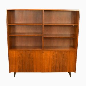 Mid-Century Danish Rosewood Bookcase Cabinet from Hundevad, 1960s