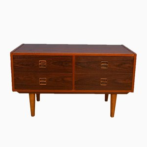 Mid-Century Danish Rosewood Low Sideboard Chest TV Stand, 1960s