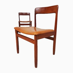 Mid-Century Danish Teak Dining Chairs from A. Younger, Set of 4
