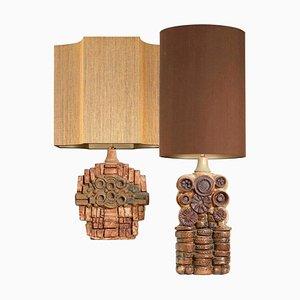 Lampes de Bureau en Céramique par Bernard Rooke, 1960s, Set de 2