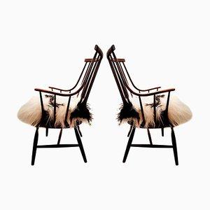 Große Modell Grandessa Sessel von Lena Larsson für Pastoe & Nesto, 1959, 2er Set