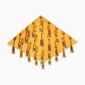 Große Geometrische Wandlampe oder Deckenlampe im Stil von Sciolari, 1960er