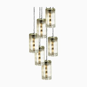 Hand Blown Murano Glass Model 4308 Pendant Lamp from Doria Leuchten Germany, 1960s