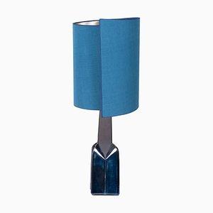 Lampe de Bureau avec Abat-Jour en Soie de Soholm Pottery, 1960s