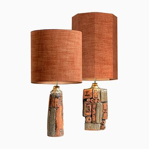 Ceramic Table Lamps by Bernard Rooke, 1960s, Set of 2