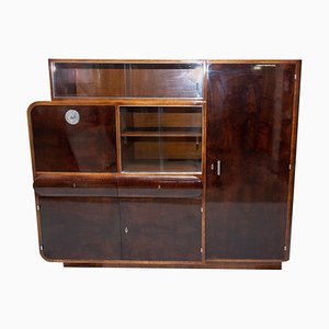 Oak and Walnut Veneer Display Cabinet from Urban Company, 1930s