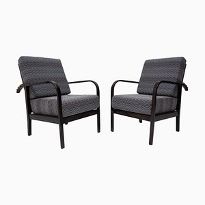 Adjustable Beech Armchairs by Jan Vaněk for UP Závody, 1930s, Set of 2