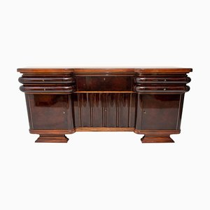 Französisches Art Deco Walnuss Sideboard, 1930er