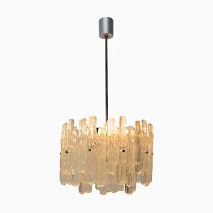 Mid-Century Imitation Frosted Glass Pendant Lamp Attributed to J.T. Kalmar, 1960s