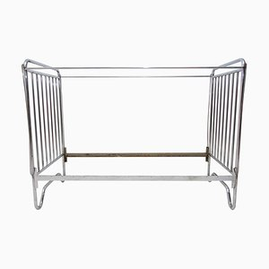 Bauhaus Chrome-Plated Childrens Bed, 1930s
