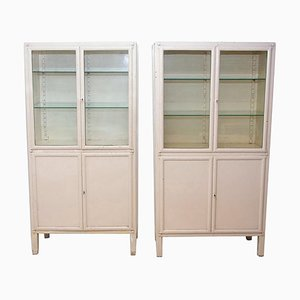 Mid-Century Medical Cabinets, 1950s, Set of 2