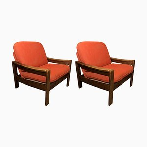 Vintage Club Chairs, 1980s, Set of 2