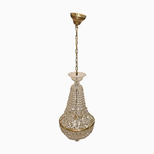 Czechoslovakian Crystal Balloon Chandelier, 1940s