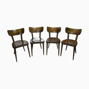 Dining Chairs from Ton, Czechoslovakia, 1950s, Set of 4