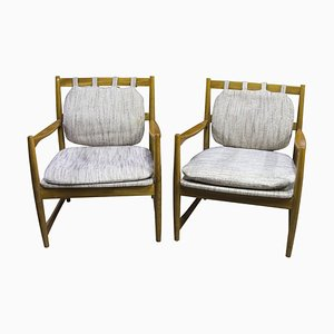 Scandinavian Style Armchairs, Czechoslovakia, 1970s, Set of 2