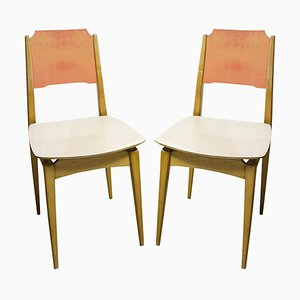 Mid-Century Color Chairs, Czechoslovakia, 1960s, Set of 2