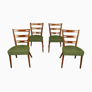 Mid-Century Beech Dining Chairs, Czechoslovakia, 1960s, Set of 4