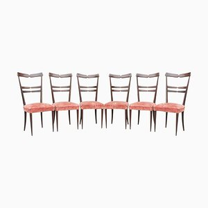 Dining Chairs in the Style of Ico Parisi, 1950s, Set of 6