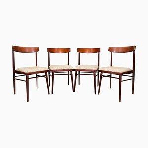 Vintage Palisander Esszimmerstühle von Jitona, 1970er, Set of 4