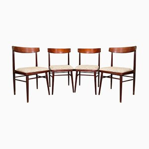 Vintage Rosewood Dining Chairs from Jitona, Czechoslovakia, 1970s, Set of 4