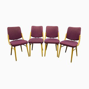 Bentwood Dining Chairs by Antonín Šuman, Czechoslovakia, 1960s, Set of 4
