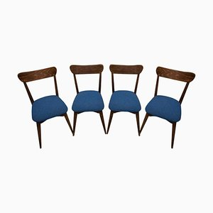 Mid-Century Beech Dining Chairs, Czechoslovakia, 1950s, Set of 4