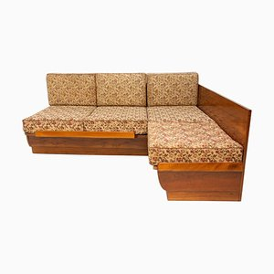 Mid-Century Sofa Bed in Walnut by Jindrich Halabala for UP Závody, 1950s