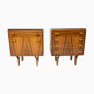Mid-Century Nightstands Chest of Drawers from Novy Domov, Czechoslovakia, 1970s, Set of 2