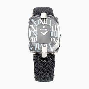 Reloj de pulsera de cuarzo de acero inoxidable rectangular femenino de Bertolucci