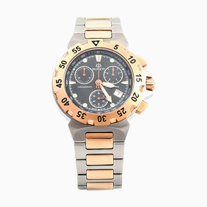 Steel and Golden Diving Chrono Wristwatch from Burrett