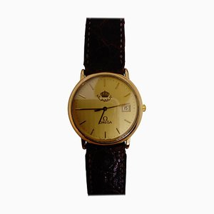Reloj de pulsera City Quartz dorado de Omega