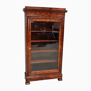 Small 19th Century Burl Veneer and Mahogany Display Cabinet