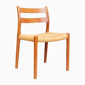 Vintage Teak No. 84 Dining Chairs by Niels Otto Møller for J.L. Møllers, 1980s, Set of 5