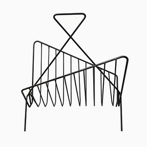 Mid-Century Wire Magazine Rack