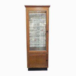 Oak Bakery Display Cabinet, 1950s