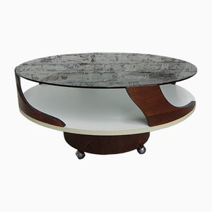 Vintage Coffee Table on Castors, 1970s