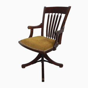 Chaise de Bar Pivotante Vintage en Chêne, 1930s