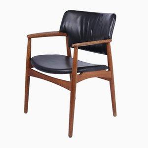 Mid-Century Oak Desk Chair by Fritz Hansen, 1950s