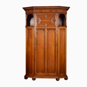 Antique Oak Hall Wardrobe