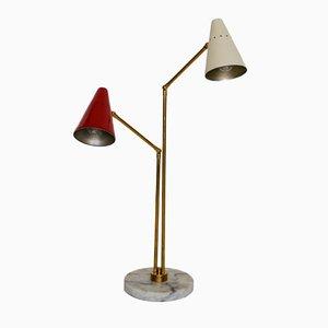 Lámpara de mesa doble grande de Stilnovo