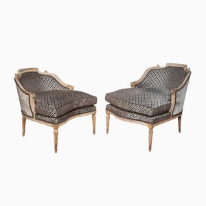 Antique Louis XV Style Duchesse Brisee Chaise Lounges, Set of 2