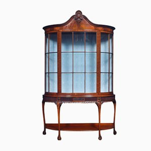 Vitrine Chippendale Antique en Acajou