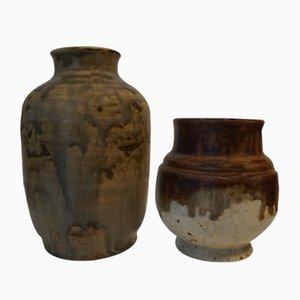 Vintage Keramik Vasen von Bode Willumsen, 2er Set