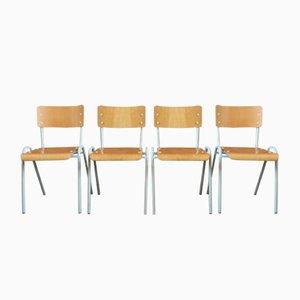 Chaises de Salon Style Indus, France, 1970s, Set de 4