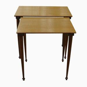 Tavolini a incastro Mid-Century in faggio, Danimarca, set di 2