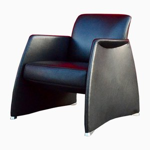 Black Leather Lounge Chair from de Sede, 1990s