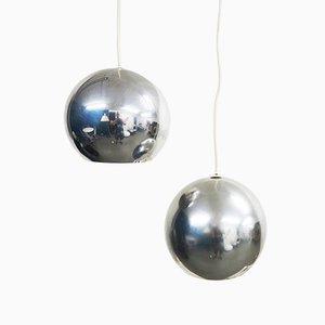 Lampade da soffitto modello Topan di Verner Panton per Louis Poulsen, anni '60, set di 2