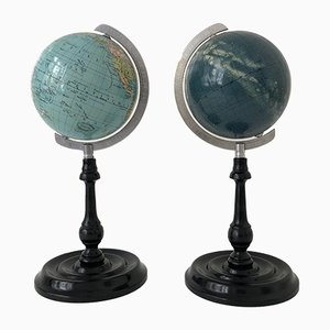 Terrestrial and Celestial Globe Set from Columbus, 1950s