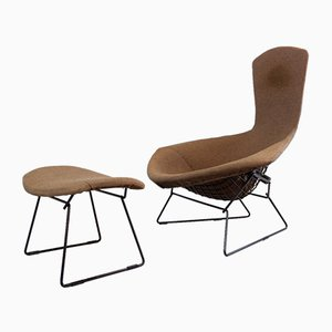 Bird Chair and Ottoman Set by Harry Bertoia, 1970s