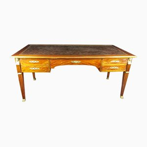Large 19th Century Empire Retour D'egypte Mahogany Desk